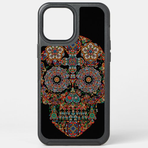 Colorful Flower Sugar Skull iPhone 12 Pro Max Case Phone Case