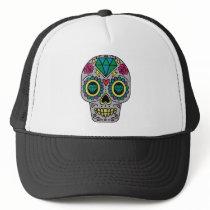 Colorful Flower Sugar Skull Trucker Hat