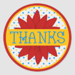 Colorful Flower Thank You Sticker