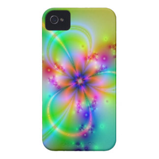 Colorful Flower With Ribbons iPhone 4 Case