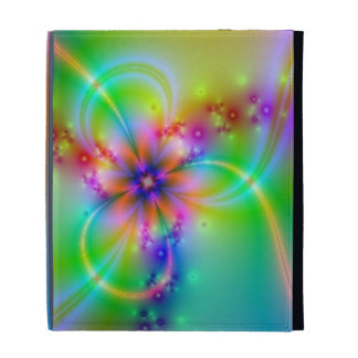 Colorful Flower With Ribbons iPad Folio Cases