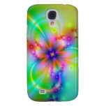 Colorful Flower With Ribbons Galaxy S4 Covers