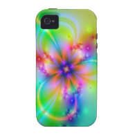 Colorful Flower With Ribbons iPhone 4/4S Cover
