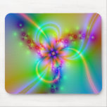 Colorful Flower With Ribbons Mouse Pad