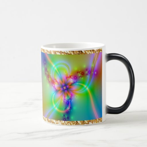 Colorful Flower With Ribbons Coffee Mugs