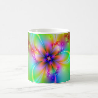 Colorful Flower With Ribbons Classic White Coffee Mug