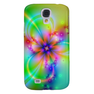 Colorful Flower With Ribbons Samsung Galaxy S4 Cover