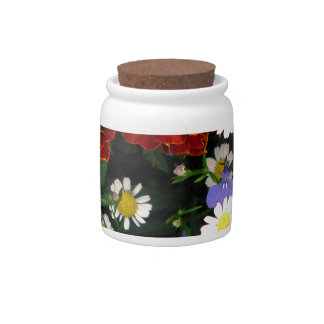 Colorful Flowerbed Candy Dish