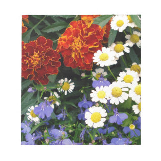 Colorful Flowerbed Memo Pads