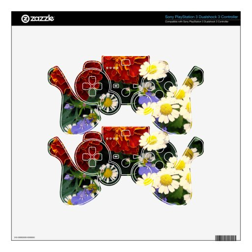 Colorful Flowerbed PS3 Controller Decal