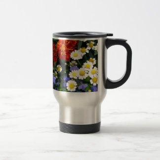 Colorful Flowerbed Travel Mug