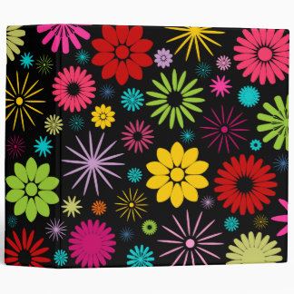Colorful Flowers 2 Inch Binder