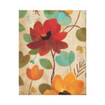 Colorful Flowers and Buds Gallery Wrap Canvas