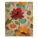 Colorful Flowers and Buds Poster