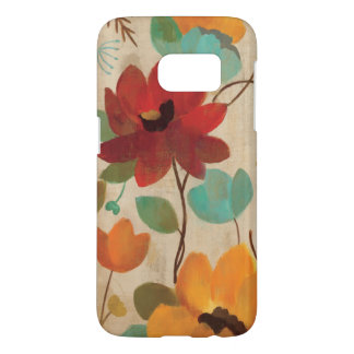 Colorful Flowers and Buds Samsung Galaxy S7 Case