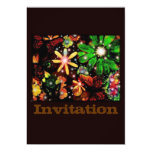 Colorful Flowers And Butterflies 13 Cm X 18 Cm Invitation Card