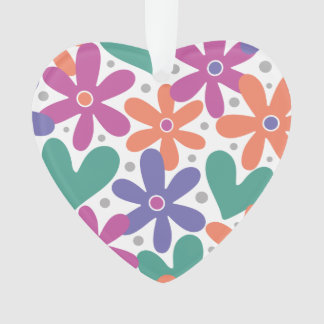 Colorful Flowers and Hearts