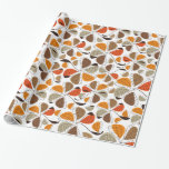 Colorful Flowers and Petals - Orange Brown Black Wrapping Paper
