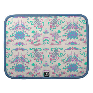 Colorful Flowers and Shapes on Cream Organizer