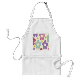 Colorful Flowers Adult Apron