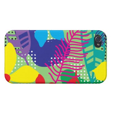 Colorful flowers background case for iPhone 4