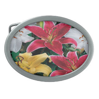 Colorful Flowers Belt Buckle
