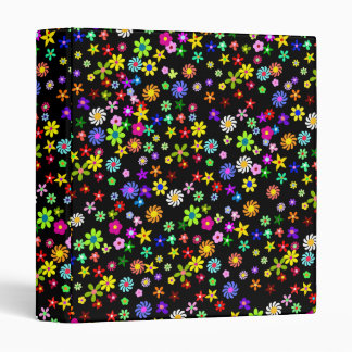 Colorful Flowers Binder
