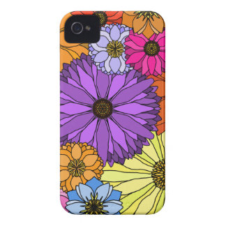 Colorful Flowers Blackberry Bold 9700/9780 Cover iPhone 4 Cases