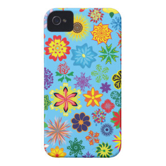 Colorful Flowers Blackberry Bold  Case-Mate Case iPhone 4 Covers