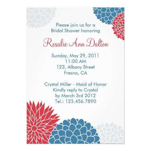 Colorful Flowers Bridal Shower Invitation