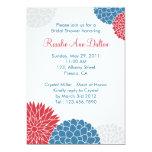 "Colorful Flowers Bridal Shower Invitation 5"" X 7"" Invitation Card"