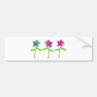 Colorful Flowers Bumper Sticker