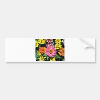 Colorful Flowers Bumper Sticker