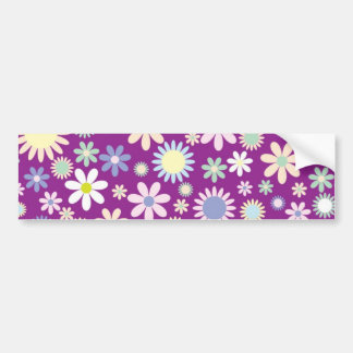 Colorful flowers bumper stickers