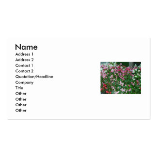 Colorful Flowers Business Card