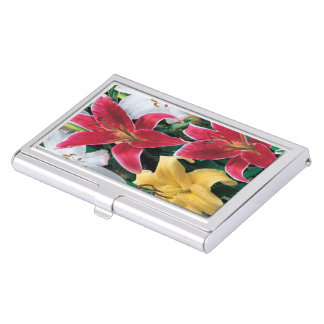 Colorful Flowers Business Card Holder