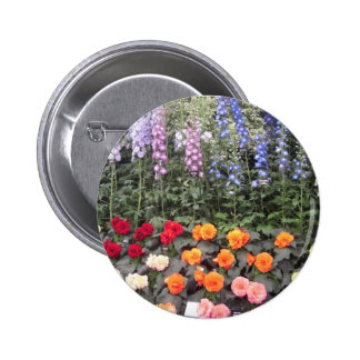 Colorful flowers button