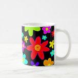Colorful Flowers Classic White Coffee Mug