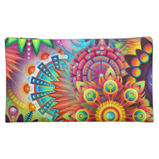 Colorful Flowers Cosmetic Bag
