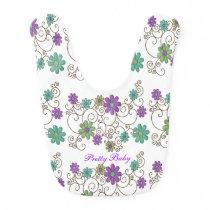 Colorful Flowers Custom Baby Bib