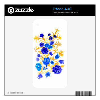 Colorful Flowers Decals For iPhone 4S