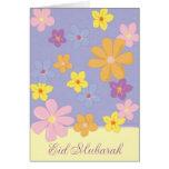 Colorful Flowers - Eid Mubarak Greeting Cards
