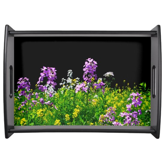 [Colorful Flowers] Field of Wildflowers Serving Tray