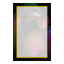 Colorful Flowers Fine Lined Stationery
