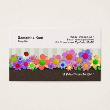 Colorful Flowers Garden Delight Business Card