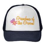 Colorful Flowers Grandma of the Groom Trucker Hat