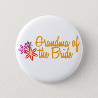 Colorful Flowers Grandma Pinback Button