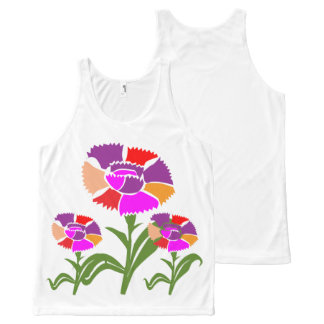 Colorful flowers graphic HappyBirthday Birthday All-Over-Print Tank Top
