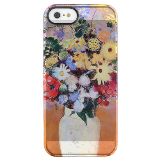 Colorful Flowers in a White Vase Clear iPhone SE/5/5s Case