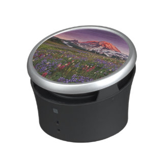 Colorful Flowers in Rainier National Park Bluetooth Speaker